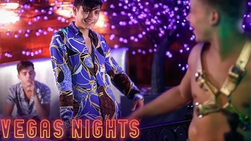 Vegas Nights, Part Two: Corbin Colby and Angel Rivera Fuck Joey Mills (Bareback)